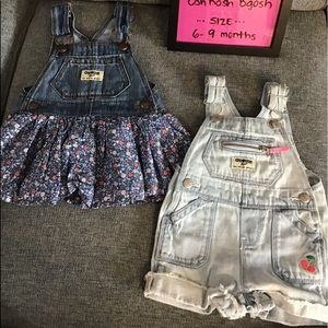 Set of two overalls